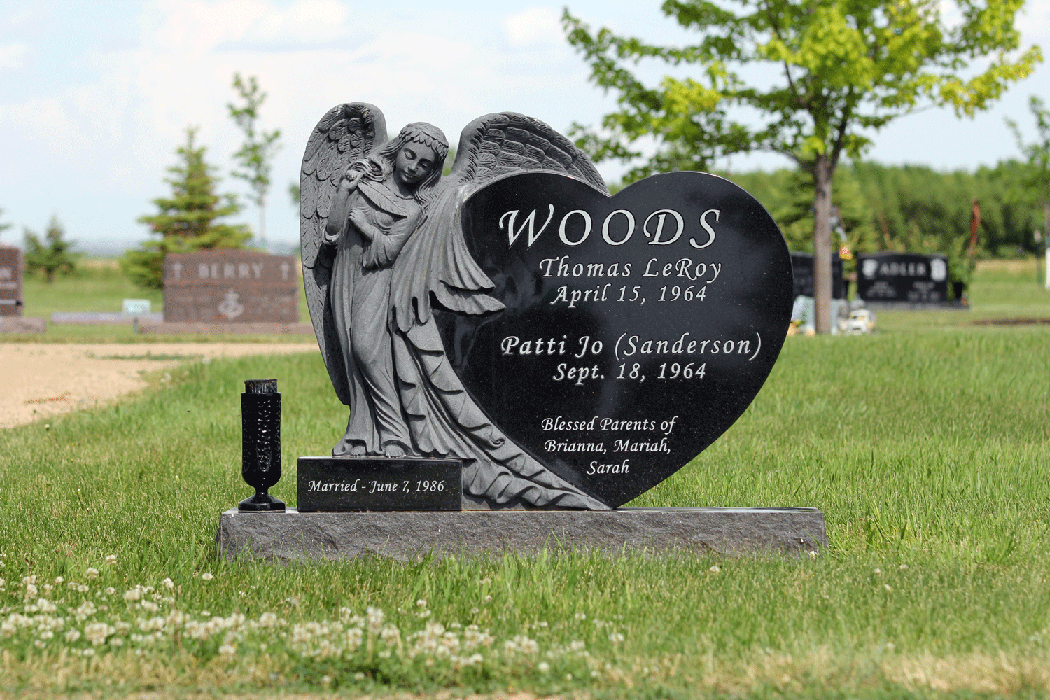 Custom Angel Heart Jet Black Monument
